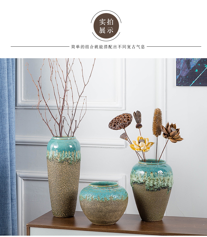 Ceramic vases, table decorations decoration indoor decoration flower arrangement sitting room porch TV ark, European contracted dried flowers