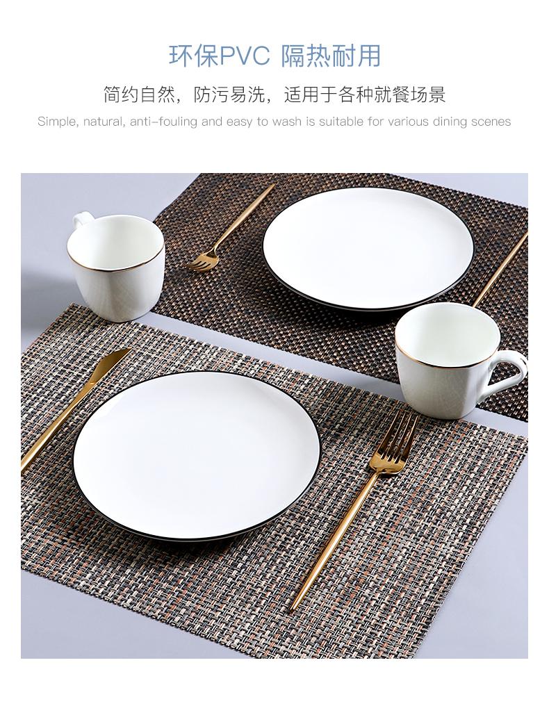 片欧式西餐垫家用隔热垫防水餐盘垫防烫耐热碗垫子美式餐桌垫详细照片