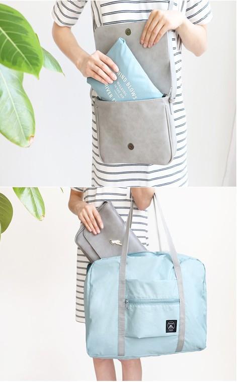 旅行轻便摺迭包可携式多功能超轻可收纳大容量可套拉桿行李箱收纳袋详细照片