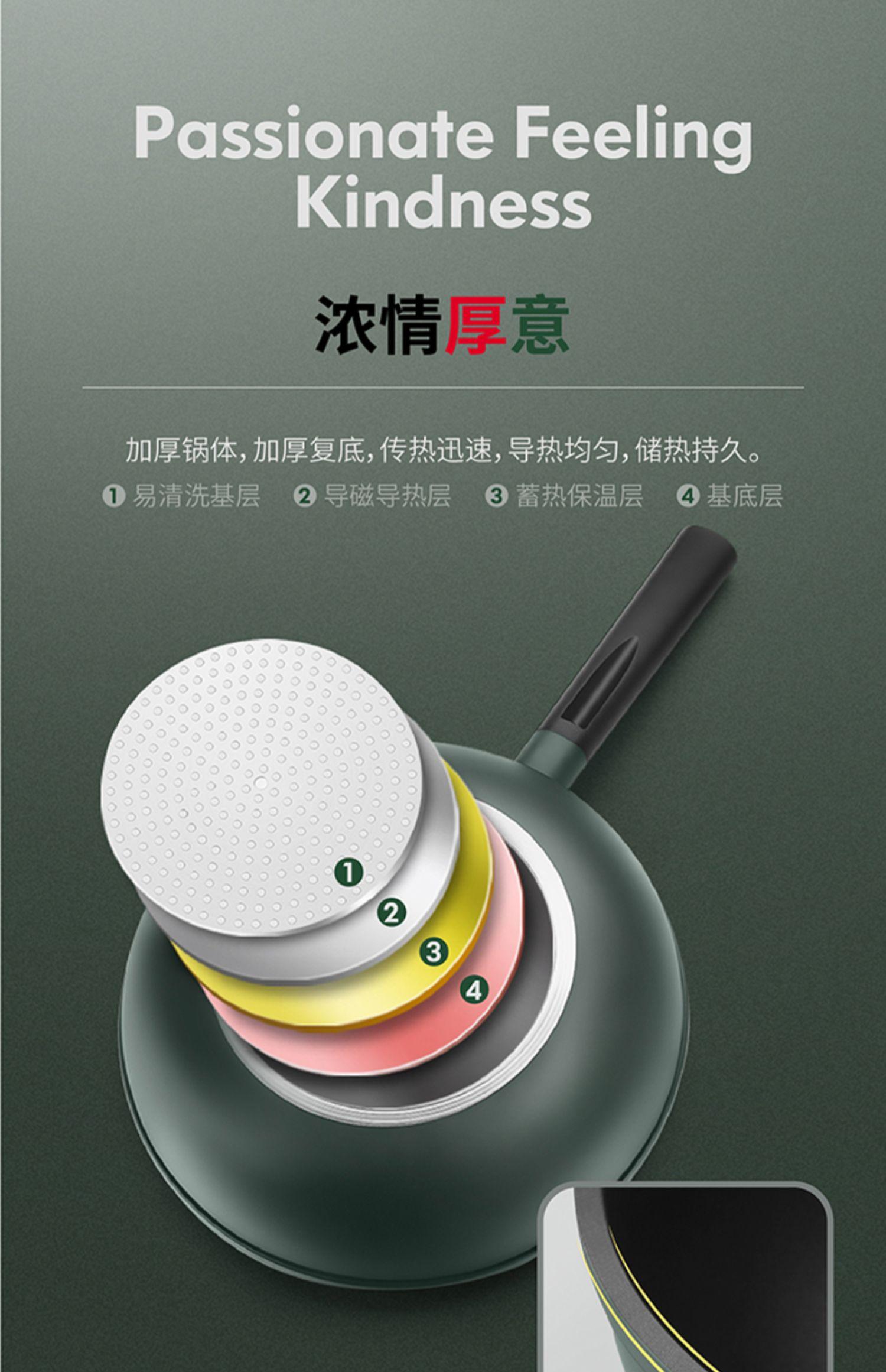 九阳麦饭石家用电磁炉煤气灶平底锅