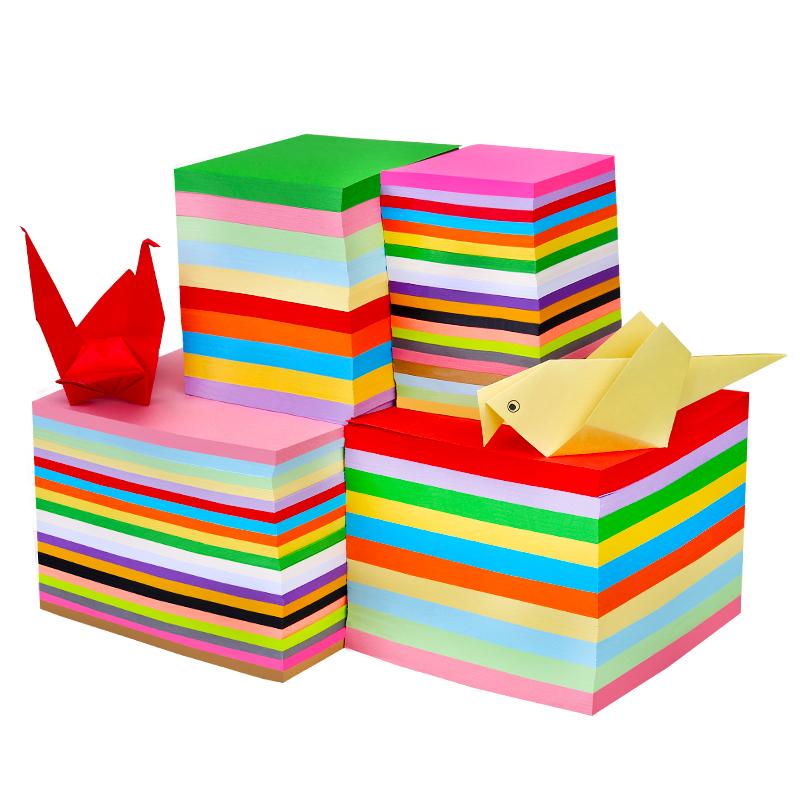 儿童手工剪纸彩色折纸大尺寸100张