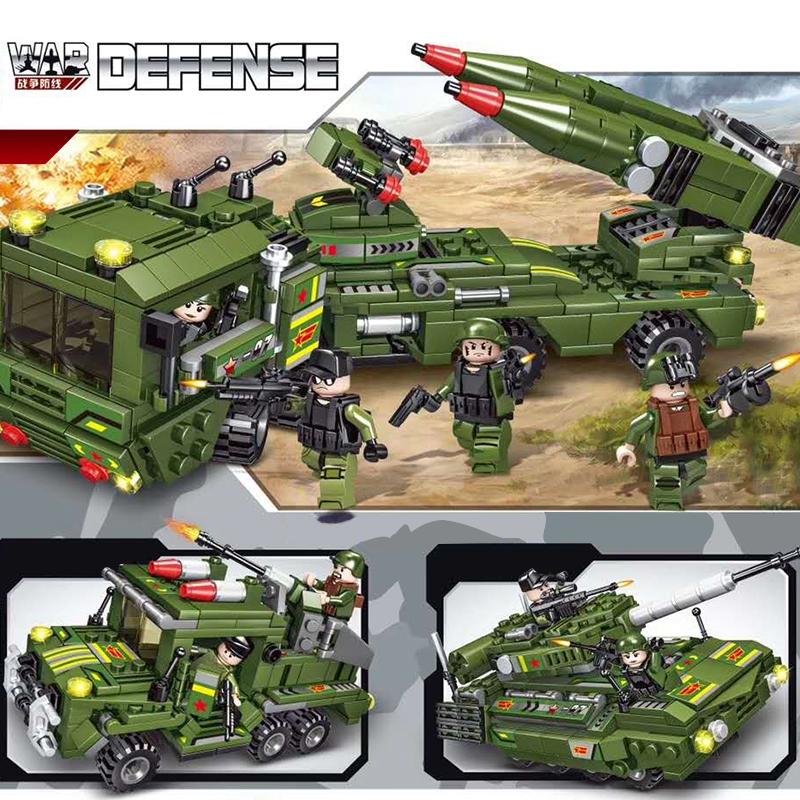 儿童乐高式军事拼装车战舰模型男孩积木玩具