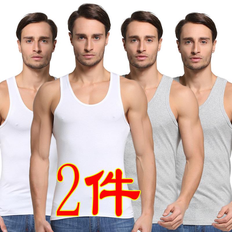 Mùa hè 2020 cộng với béo cộng với size cotton mới, áo vest nam thấm mồ hôi tay áo thun thể thao giản dị cắt tay áo - Áo vest cotton