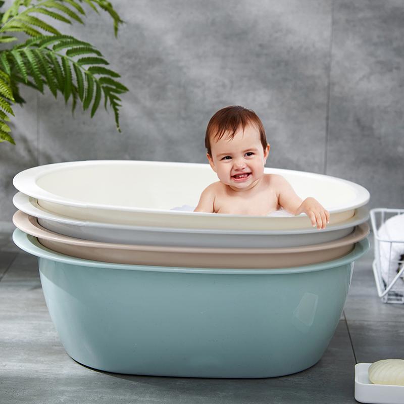 大号洗澡盆婴儿宝宝脸盆加厚塑料盆新生儿儿童特大大盆子洗衣盆
