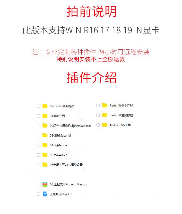 C4D Redshift渲染器 2.5/2.6中文版 红移 RS教程WINR18- R20A1184