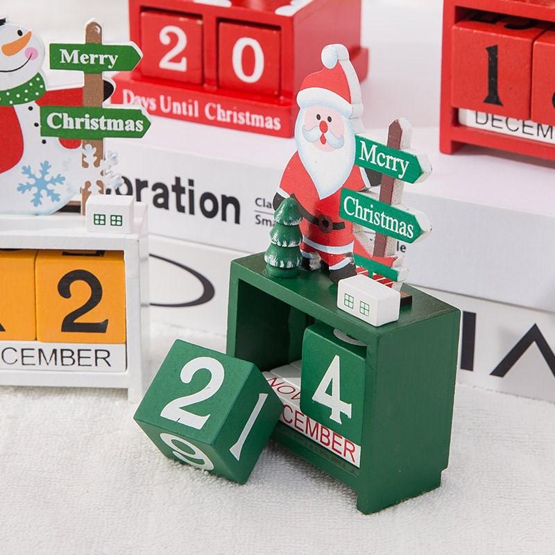 圣诞节礼品雪人摆件幼儿园小礼物老人麋鹿平安夜装饰用品木质日历