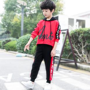 【沐森】中大童卫衣+长裤两件套装