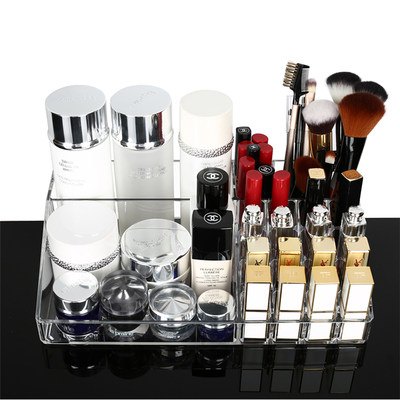 Oversized desktop cosmetic storage box transparent acrylic creative lipstick skin care products dressing table storage