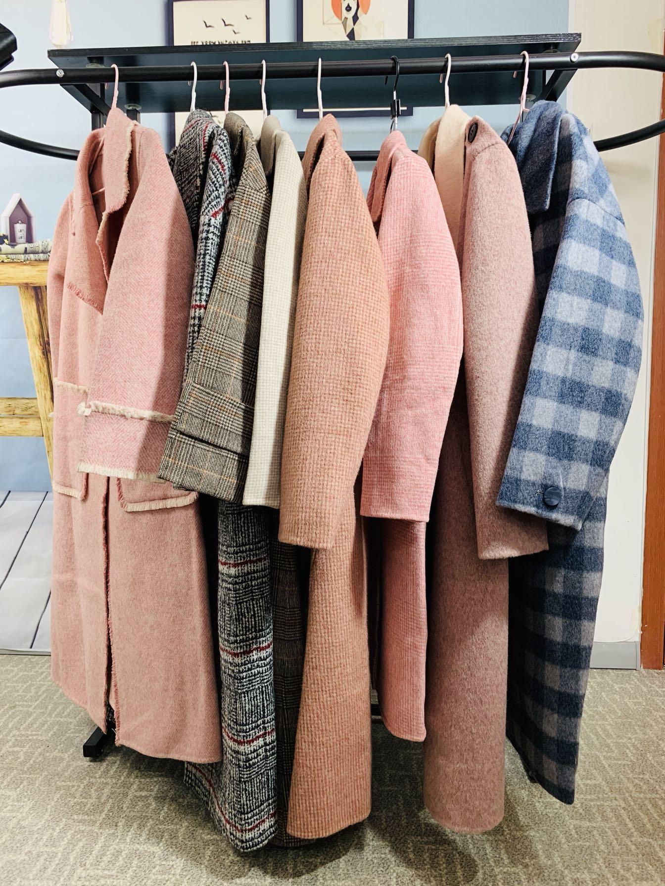 纯羊毛羊绒双面呢专柜正品特价清仓女士中长款大衣2019新款大码女