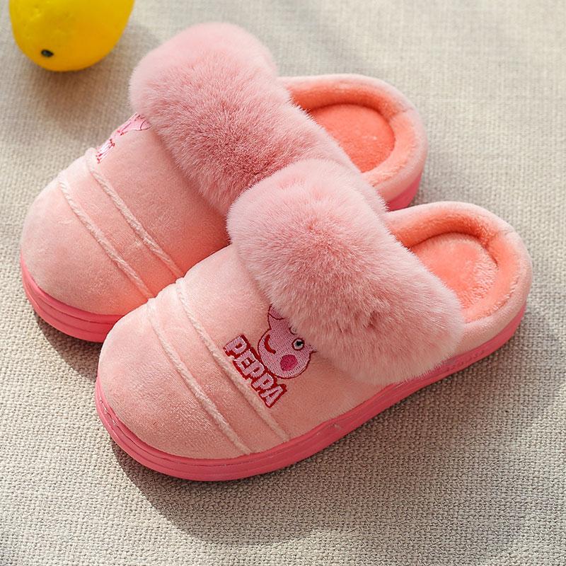 【防滑-包跟】卡通小兔宝宝棉拖鞋