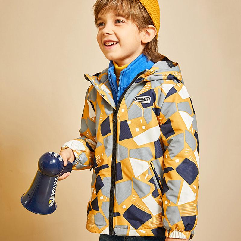 男童儿童加厚加绒冲锋衣风衣上衣外套