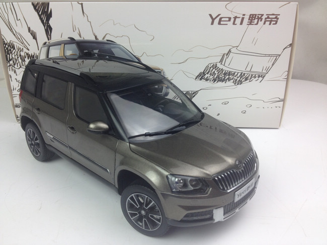 1 18 shanghai volkswagen skoda yeti 2014 gray dealer. Black Bedroom Furniture Sets. Home Design Ideas