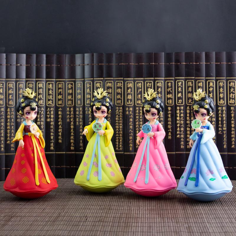 网红不倒翁小姐姐陕西西安纪念品礼物文创大唐不夜城娃娃手办摆件