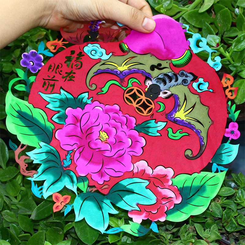 Paper cut painting blessing color window kindergarten hand made paper cut painting blessing color window kindergarten hand made works chinese style xian small gifts mightylinksfo