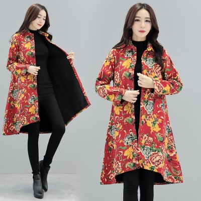 118 thickened 2017 national wind women are code-length long commuter coat jacket mother loaded