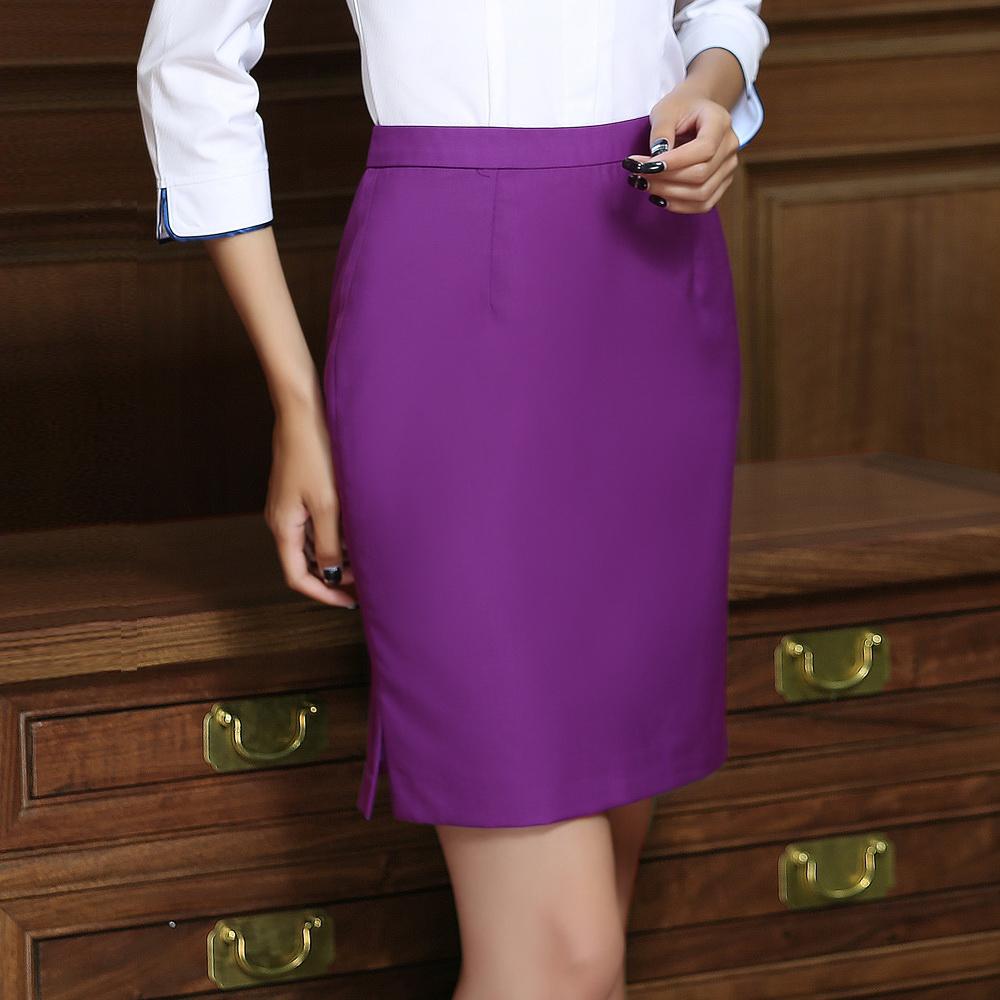 2020新款两侧开衩气质西裙职业套装女半裙空姐v气质裙多色可选夏装