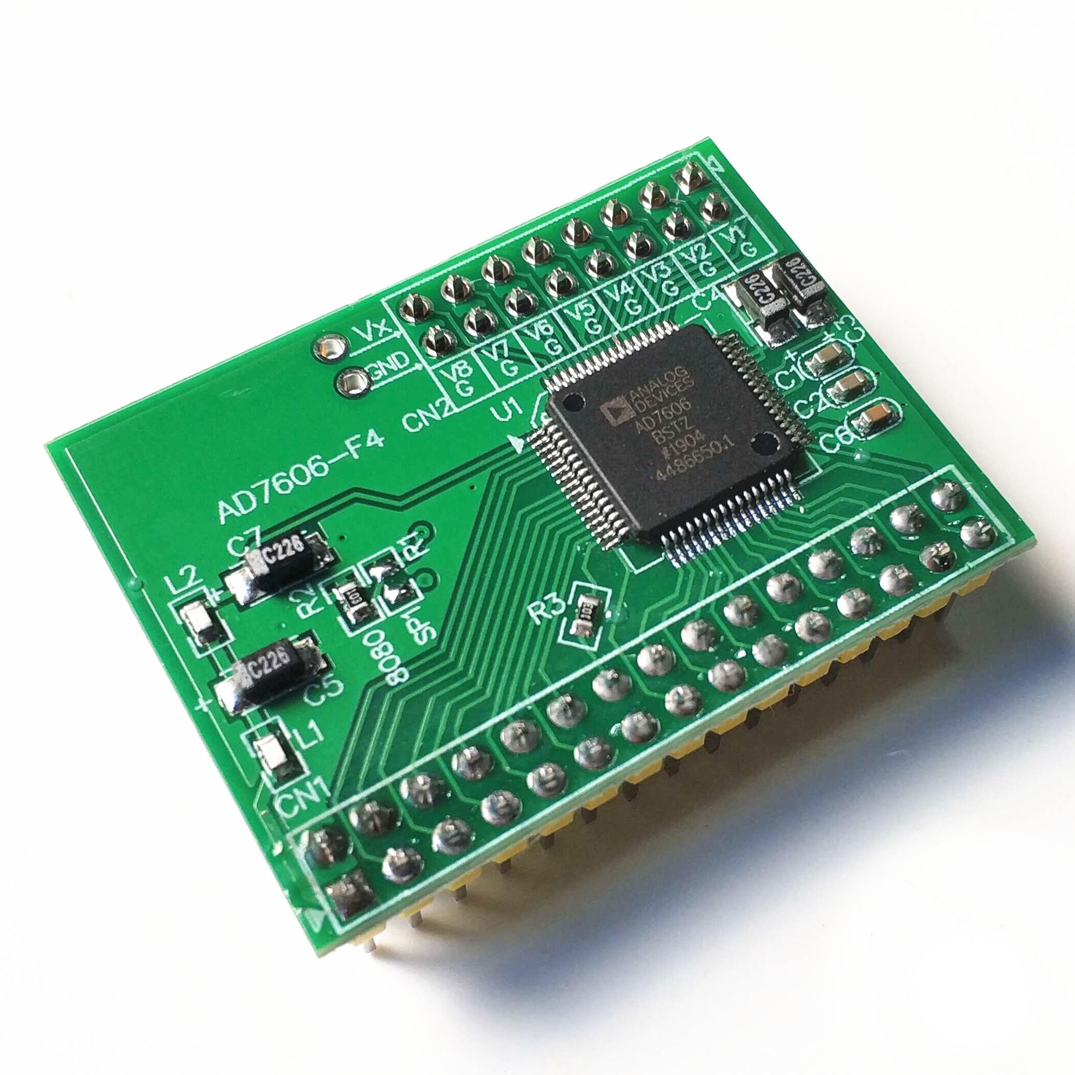 AD7606数据采集频率16位ADC8路v频率采样模块200KHz