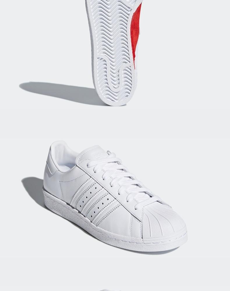 阿迪达斯 情人节限定 SUPERSTAR 80s 男女运动鞋 图9