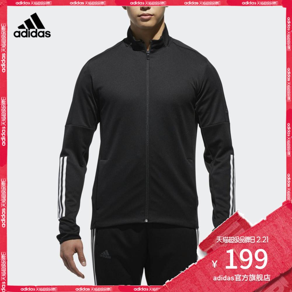 adidas 阿迪达斯 网球 男子 网球夹克 黑 CF7970