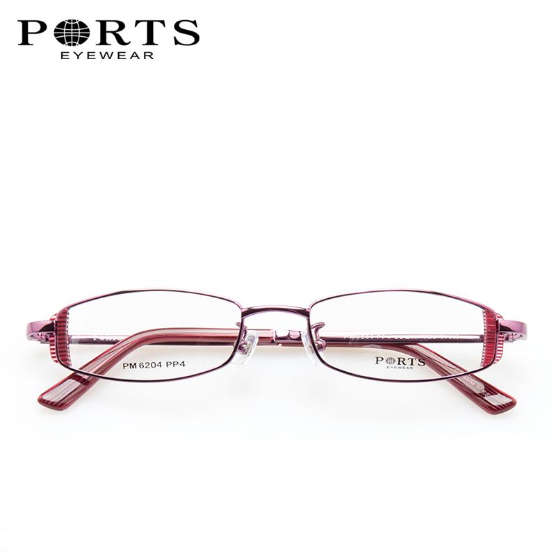 PORTS Boots Frame Small Face Female Fashion Glasses Frame Full Frame ...