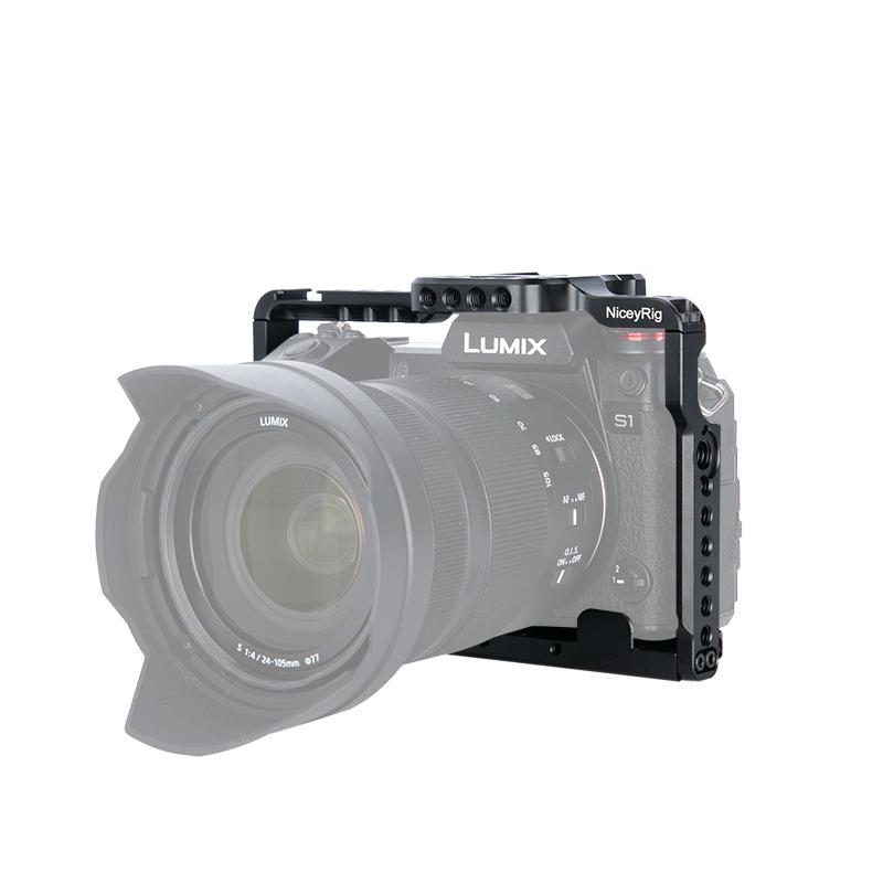 Niceyrig / Lei Shengge Máy ảnh đặc biệt Panasonic S1 / SR1 thỏ lồng micro chụp ảnh đơn xử lý phụ kiện 316 - Phụ kiện VideoCam