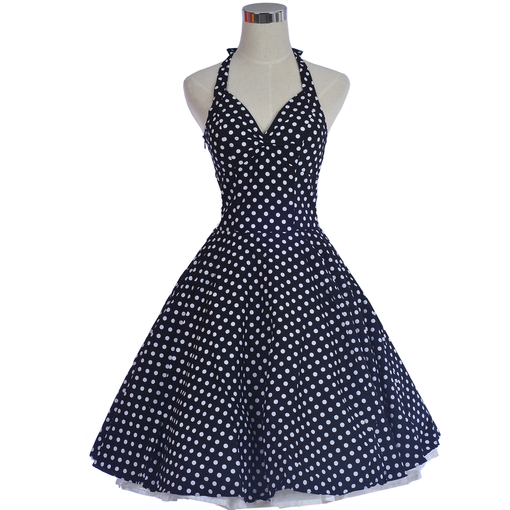 1950s 1960s Swing Polka Dot Retro Rockabilly Dress Ball Gown Party ...