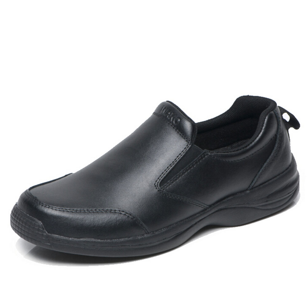 Men's Leather Chefs Shoes Kitchen Nonslip Shoes Safety