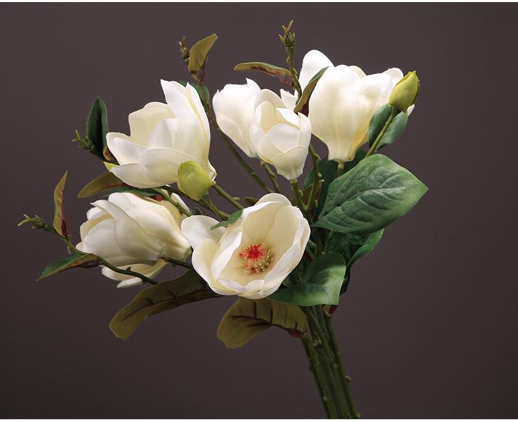 〖洋碼頭〗假花仿真花擺件玉蘭花客廳擺設新中式花束插花餐桌花瓶家居裝飾花 ysh471
