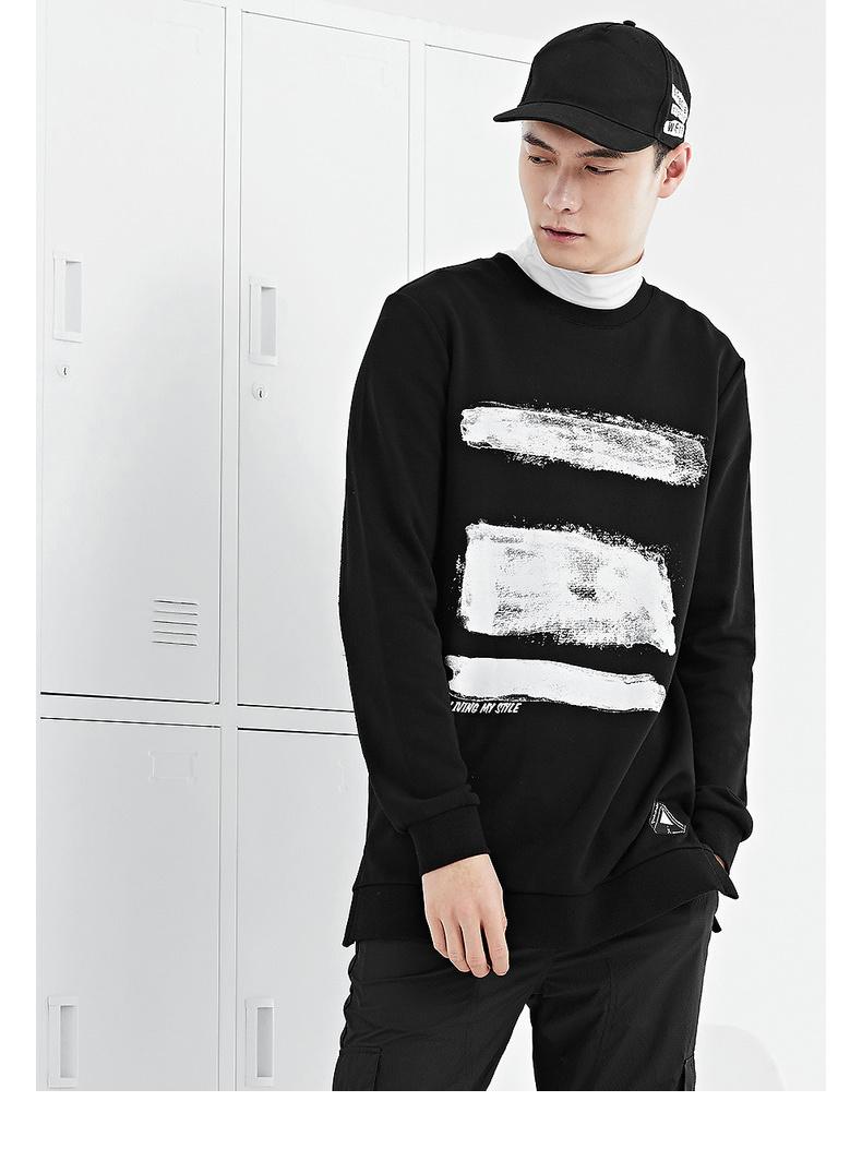 Mùa xuân của nam giới GXG bán áo len mỏng thời trang màu đen # 171031309