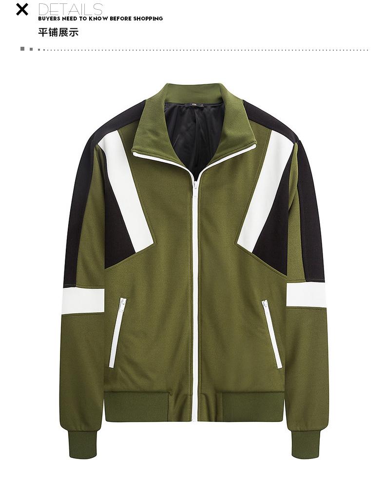 Mùa xuân của nam giới GXG bán áo len màu xanh lá cây thời trang mỏng # 171231111