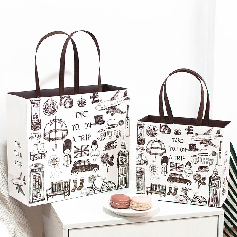 韩版礼品袋教师节包装袋简约礼物袋手提袋购物袋纸袋礼品盒可定制