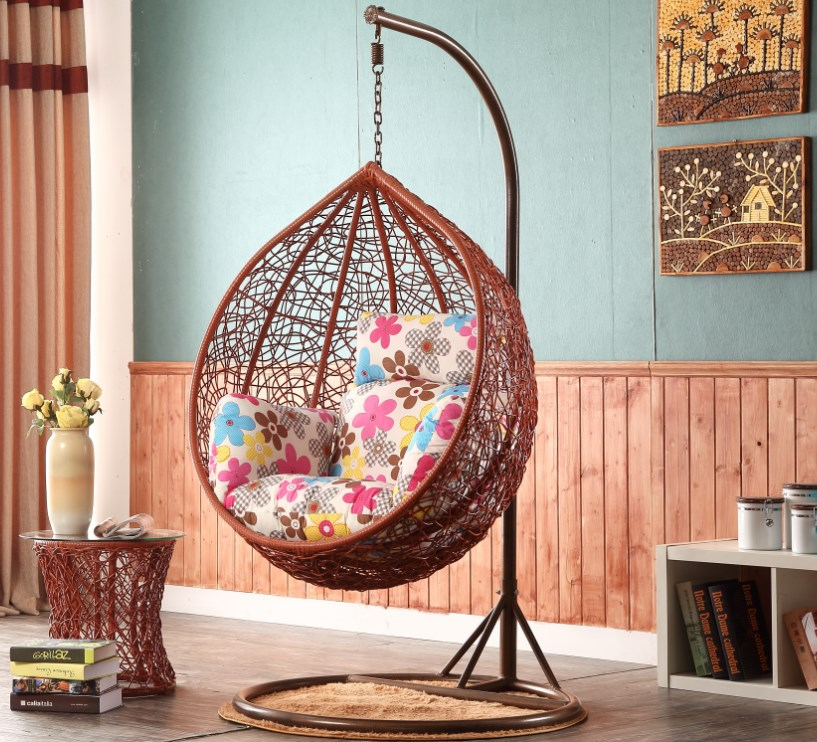 Swing Hanging Chair Hammock Indoor Balcony Birdu0027s Nest Hanging Basket  Rattan Chair Recliner Lazy Rocking Chair