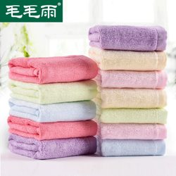 8 pieces of bamboo fiber small square towels, bamboo charcoal square small towels, female children's baby wash face cleansing towels and hand towels for household use