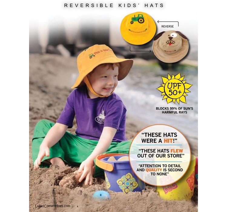 Головной убор Пятно детей luvali Соединенных Штатов анти-УФ солнцезащитный крем для загара Hat в upf50+солнцезащитный козырек крышки с обеих сторон носить