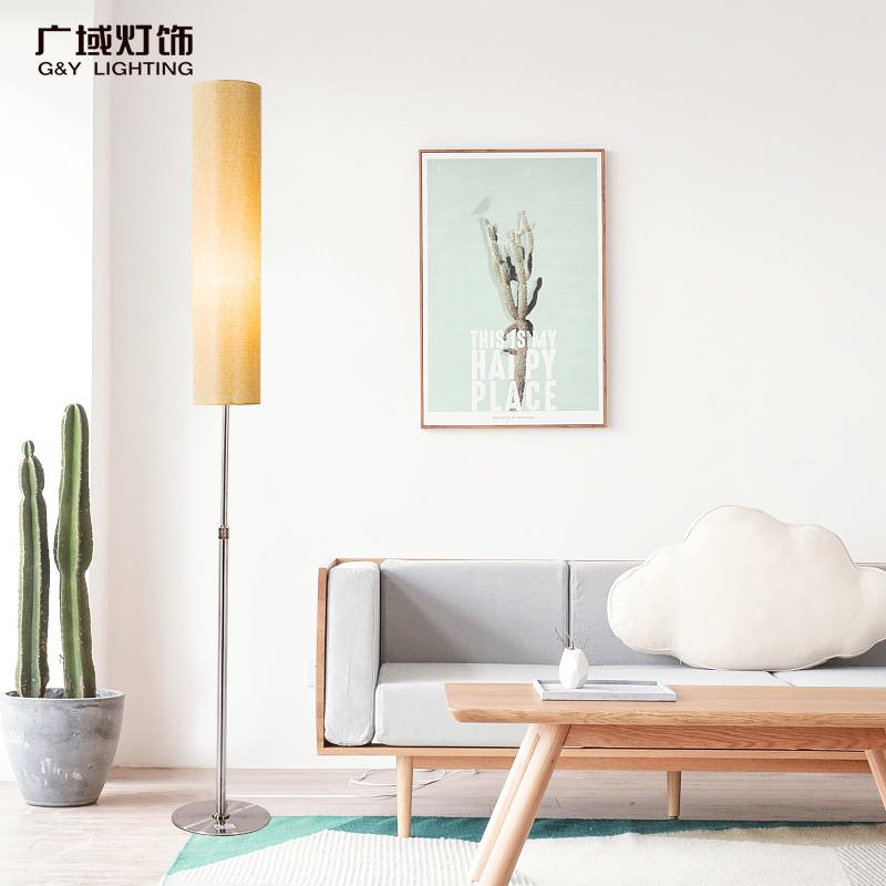 Торшер спальня прикроватный свет нордический творческий гостиная вертикальный настольные лампы простой фасон современный дистанционное управление этаж настольные лампы