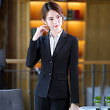 Black two-button temperament slim-fit bank work clothes manager professional formal wear jacket small suit suit female spring and autumn