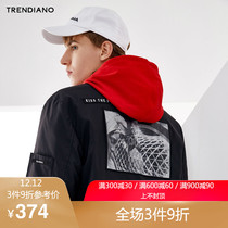 Trendiano new mens clothing autumn dress casual alphabet pattern