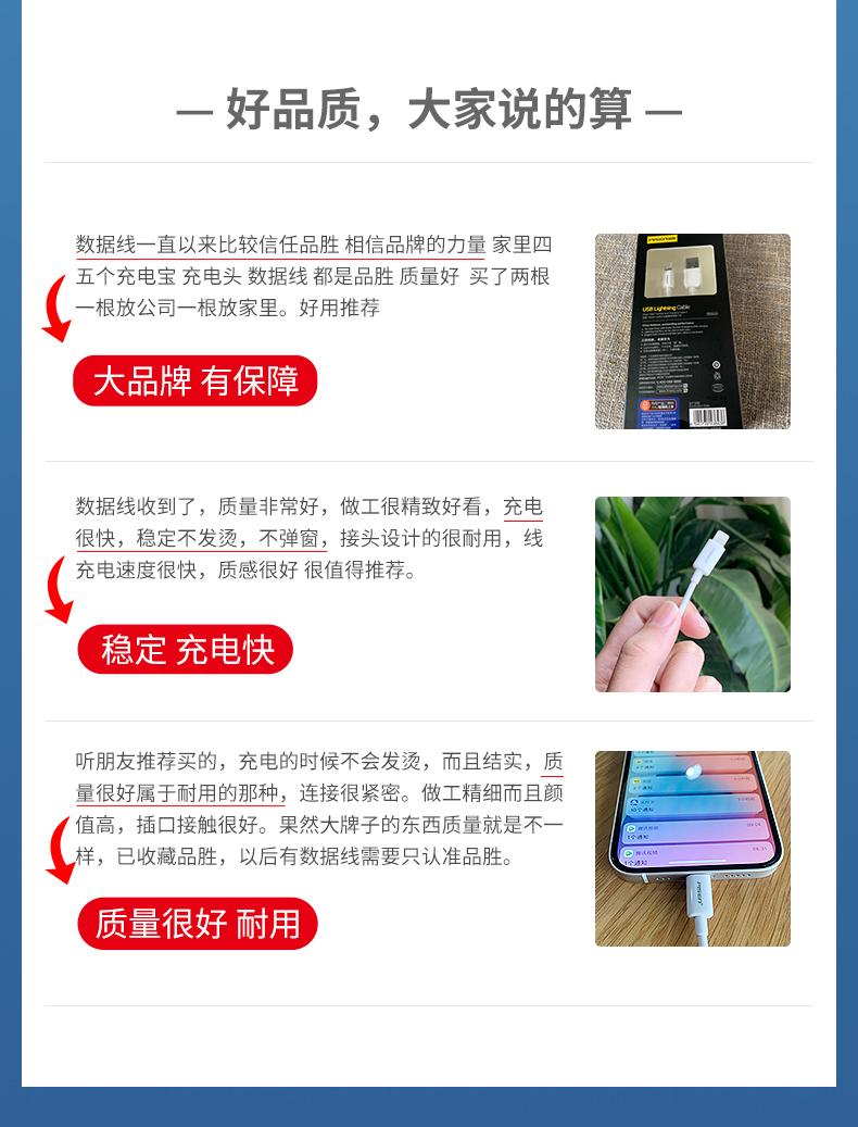 【品胜】苹果系列快充数据线10