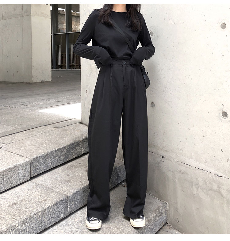 O1CN01QPEhjO1FRFqfz1bPQ !!470100483 - S-L 2 colors Casual Straight Suit Pants Women High Waist Pant Office Lady wide leg Long Trousers womens (X580)