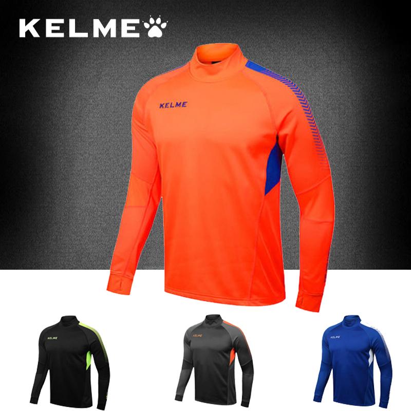 Quần áo tập bóng đá mùa đông KELME / Carlmei cộng với nhung thoáng khí ấm áp áo dài đào tạo áo bóng đá K089 - Bóng đá