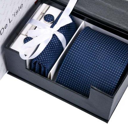 DeLisle男士领带正装商务工作面试结婚学生英伦六件套装礼盒装