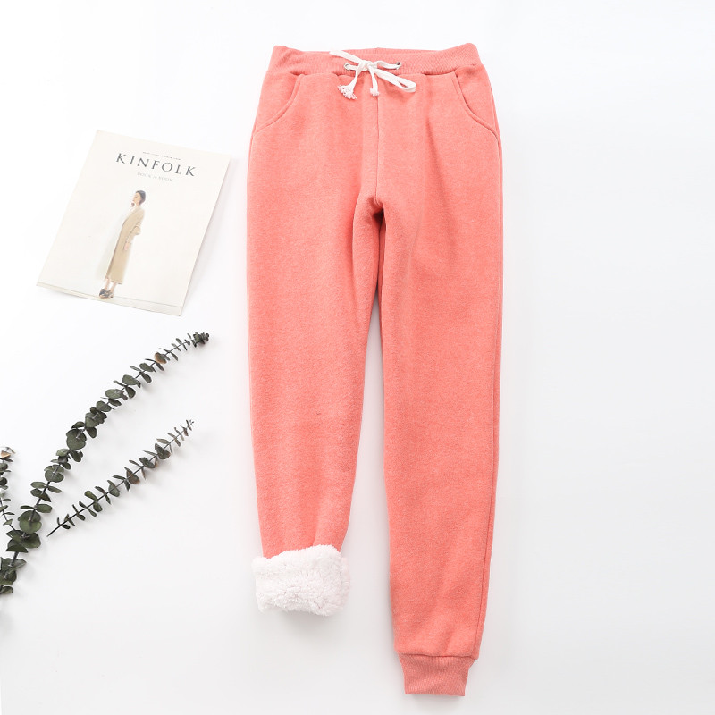 Winter Cashmere Harem Warm Pants Women 2020 Causal trousers Women Warm Thick Lambskin Cashmere Pants Women Loose Pant 16