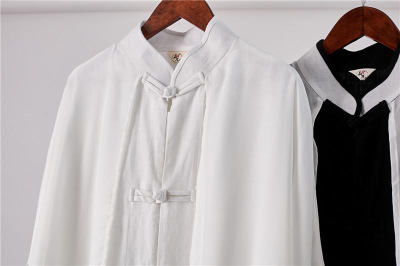 Mùa xuân và mùa hè Trung Quốc phong cách mặt trời áo bảo vệ nam áo gió voan áo khoác giả hai mảnh của Trung Quốc phong cách khóa áo dài áo sơ mi