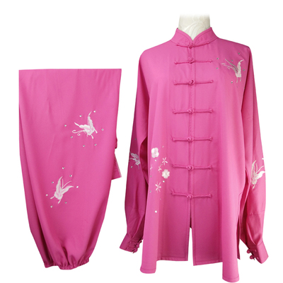 Chinese Martial Arts Clothes Kungfu Clothe  Tai Chi costume embroidery peony butterfly plum blossom Phoenix tailor-made