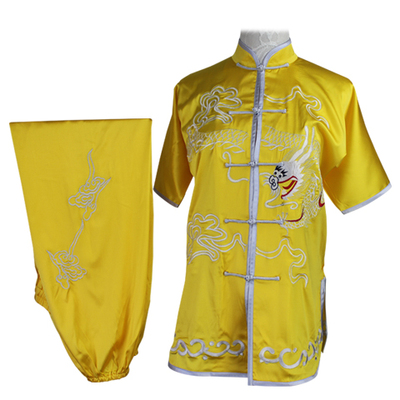 Chinese Martial Arts Clothes Kungfu Clothe  Tai Chi Wushu Competition Performs Colorful Clothes