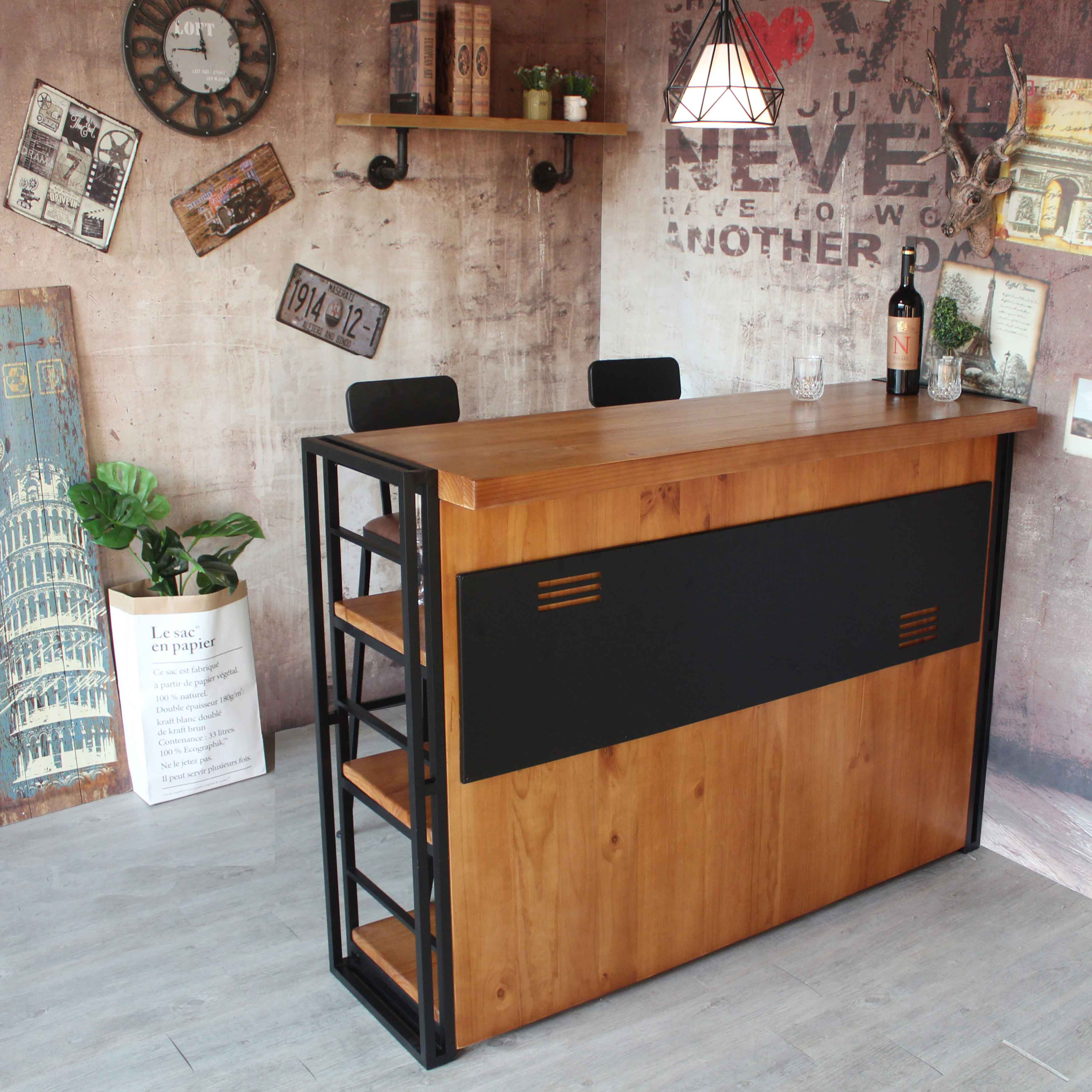 Solid Wood Bar Table Dining Room Living Kitchen Entrance