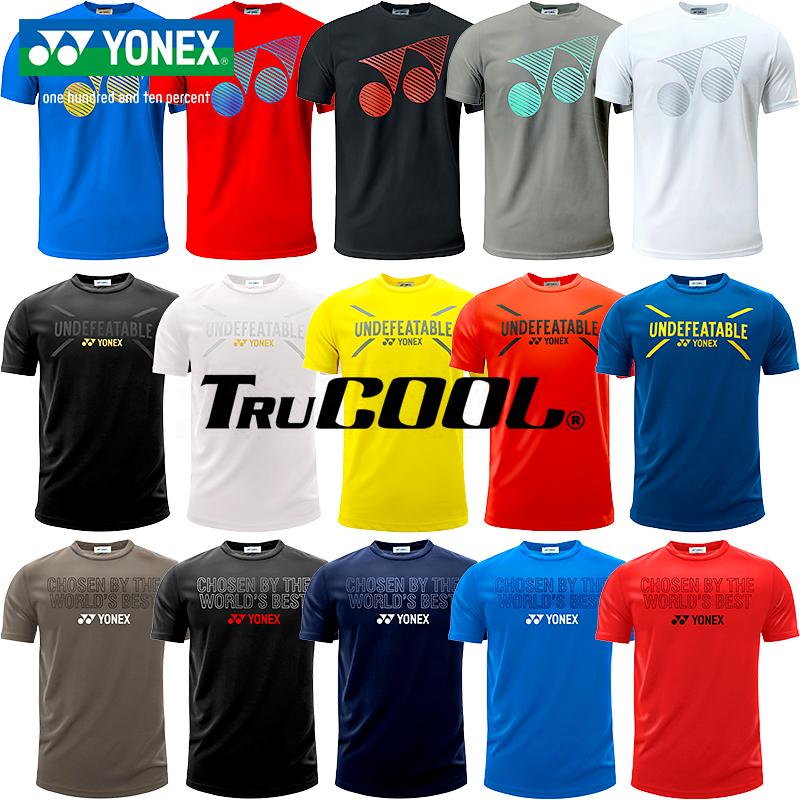 羽毛球服新款上衣正品YONEX尤尼克斯YY运动男女T恤训练服短袖圆领