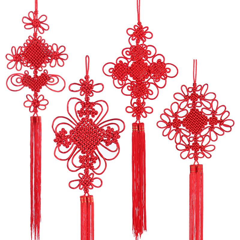 Chinese knot pendant small living room large wedding porch hanging ...