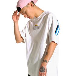 THETHING设计潮牌男士夏装短袖T恤简约后背罗纹拼接tee半袖男2018