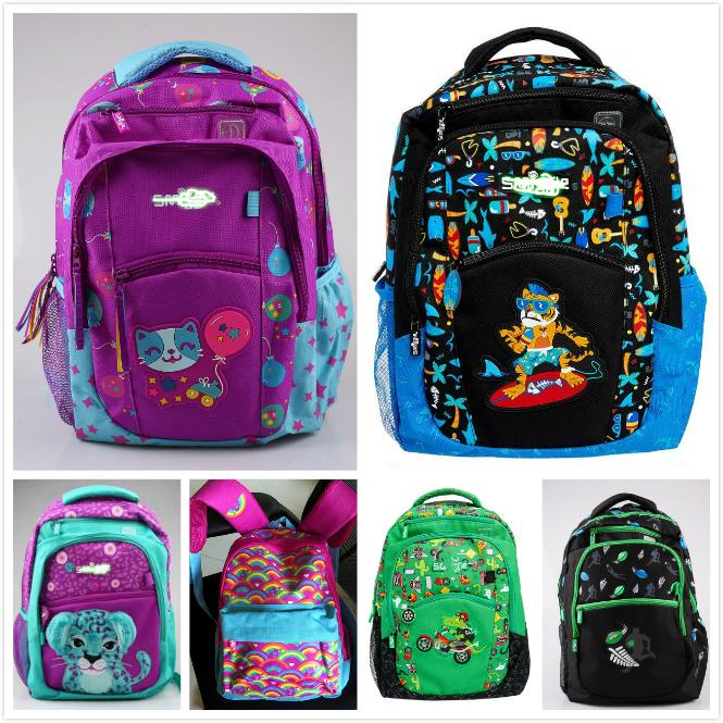 Ранец Бесплатная доставка продажи Австралии сайт smiggle мультфильм мальчики и девочки студенты школа мешок двойной плечо рюкзак для ребенка школьную сумку больше